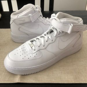 Nike Air Force 1 Mid Men's Hi White Sneakers Shoes